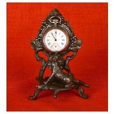 Antique French Cast Metal Figural Porte Montre