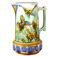 Antique Mouzin Lecat Majolica Pichet/Pitcher