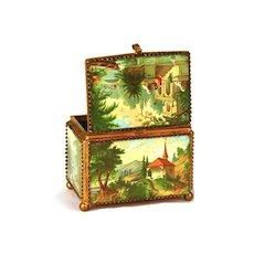 Antique 19th c. French Trinket Box/Boite a Bijoux