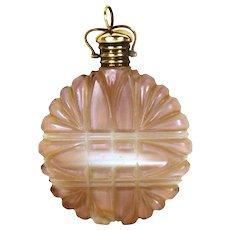 Antique Napoleon III Era Amethyst Cut Glass Chatelaine Scent or Salts Bottle