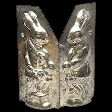 Rare Vintage Chocolate Mold Rabbit and Baby Rabbit