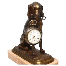 Antique Nineteenth Century Cast Bronze Figural Sculpture Porte Montre Watch Holder