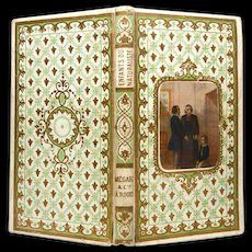 Antique Nineteenth Century French Prize Binding with Chromolithograph Medallion