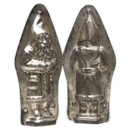 Vintage Metal Chocolate Mold Pere Noel, Father Christmas