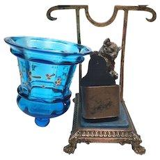Antique Nineteenth Century Candle Lamp Porte Allumettes
