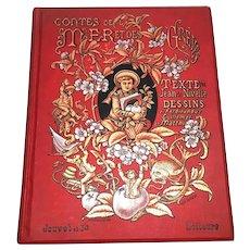 Antique Nineteenth Century French Book Romantic Binding circa 1889
