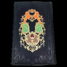 "Antique Nineteenth Century French Romantic Binding Book ""Madame Sevigne"""