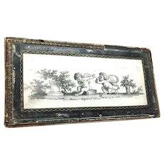Antique Nineteenth Century Charles X Period Allegorical Bonbonniere Box