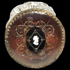 Antique Nineteenth Century Charles X Era French Bonbonniere with Cameo Medallion