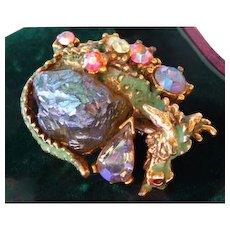 HAR dragon earring pin brooch