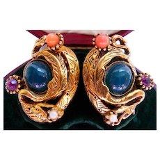 Selro dragon clip earrings