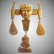 Vintage Goldette style Egyptian Revival necklace