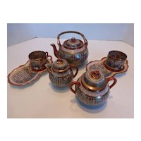 Antique Japanese Porcelain THOUSAND FACES Tea Set