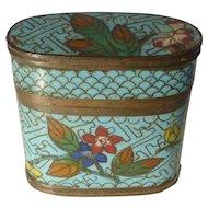Antique Cloisonné Opium Box