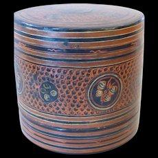 Antique Burmese Yun Lacquered Betel Box Pre 1900