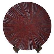 Vintage Japanese Kamakun-bon Lacquer Ware Plate Artist Signed
