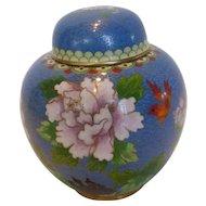 Vintage Chinese Cloisonné Ginger Jar Pot with Lid
