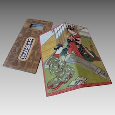 Japanese Wagami Rice Paper Billfold Wallet in Box MINT