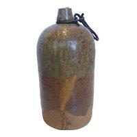 Vintage Japanese Ceramic Binbou-Tokkuri  Sake Jug Bottle