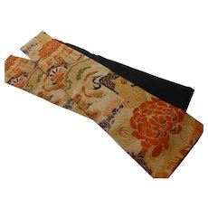 Antique Japanese Silk Fukuro Obi