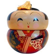 Japanese Lacquer Ware Kokeshi Doll Styled Box