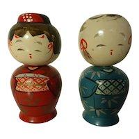 Kokeshi Doll Salt and Pepper Set