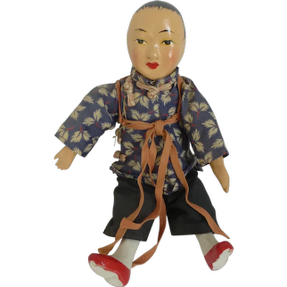 Vintage Chinese Peasant Woman Doll