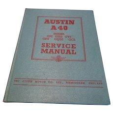 1949 Austin Service Manual A40 Series GS2 G2S2 GV2 GP2 GQU2 GS2