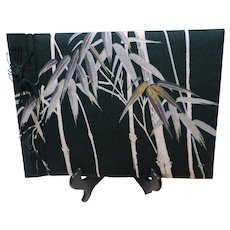 Vintage Japanese Textile Covered Photo and Memento Album Unused in Box