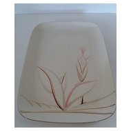 Winfield Dragon Flower Large Rectangular Platter Mid-Century Calif. Pottery