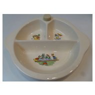 Vintage Excello Divided Warming Baby Dish 1949