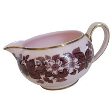 Vintage Wedgwood Creamer Alpine Pink Bramble Pattern