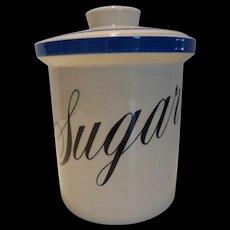 "T.G. Green Cornishware ""Sonoma"" Sugar Canister England"
