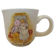 Poole Pottery Child's Nursery Rhymes Mug Tea Cup Georgie Porgie & Wee Willie Winkie