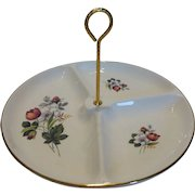 Vintage Divided Serving Tray / Dish w Handle Unused