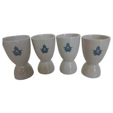 WWII Royal Canadian Air Force Ironstone Egg Cups Set of 4