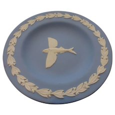 Wedgwood Jasperware White on Blue Flying Fish Tray – Artist Signed Mark Mayson