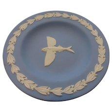 Wedgwood Jasperware White on Blue Flying Fish Tray – Artist Signed Mark Mayson