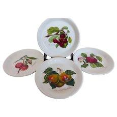 Portmeirion Pomona Coasters Sweet Dishes Fruits Set of 4