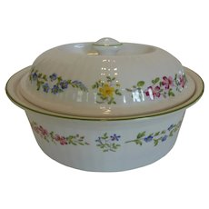 Royal Worcester 2.5 Qt Oval Covered Oven-to-Table Casserole 'Fleuri'
