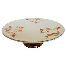 Hall China Autumn Leaf Pedestal Cake Stand Cake Plate 9.5 inch