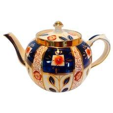 Sudlow Pottery Burslem Imari/Gaudy Welsh Teapot England