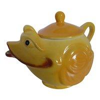 Vintage 1950s Ceramic Yellow Chick Teapot