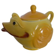 Vintage 1950s Ceramic Yellow Chick Teapot