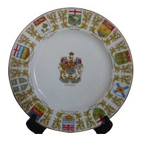 Vintage CROWN DUCAL AGR England Dominion of Canada Souvenir Plate 1949