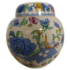 Mason's Ironstone Ginger Jar Tea Jar for FORTNUM & MASON w/ Original Labels England