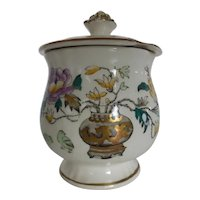 "Vintage Mason's Ashworth Bros Porcelain Jam Jar w Lid ""Chinese Peony"" Made in England"