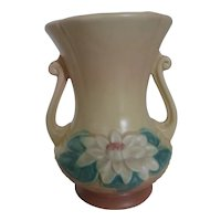 HULL Art Pottery Water Lily Vase L-4 6 1/2 In