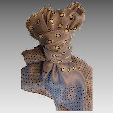 Vintage Perry Ellis Classic Silk Scarf