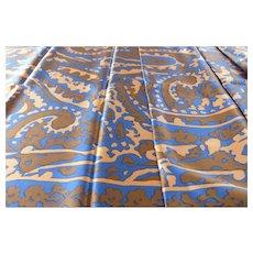 Vintage Free Form Paisley Long Silk Scarf France